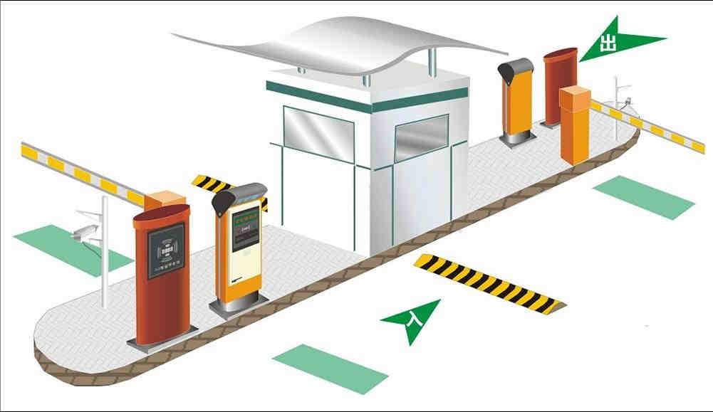 智能化停车场分颜色接线图